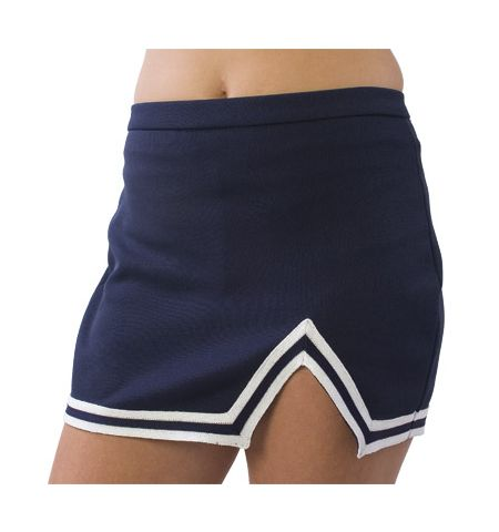 PIZZAZZ A-LINE CHEERLEADING SKIRT WITH ACCENT TRIM - US15 / US10