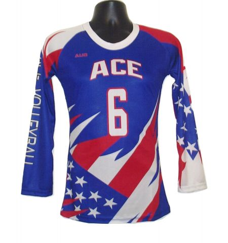 MAXXIM SPORTS CUSTOM DYE SUBLIMATED LS VOLLEYBALL JERSEY - DS-VB100