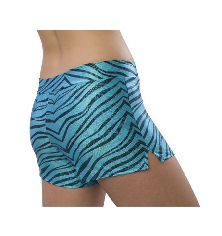 ADULT ZEBRA GLITTER POLY/COTTON LOW RISE SHORTS