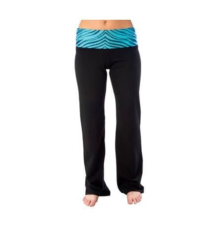 ADULT  ZEBRA GLITTER COTTON/SPANDEX ROLL DOWN PANTS