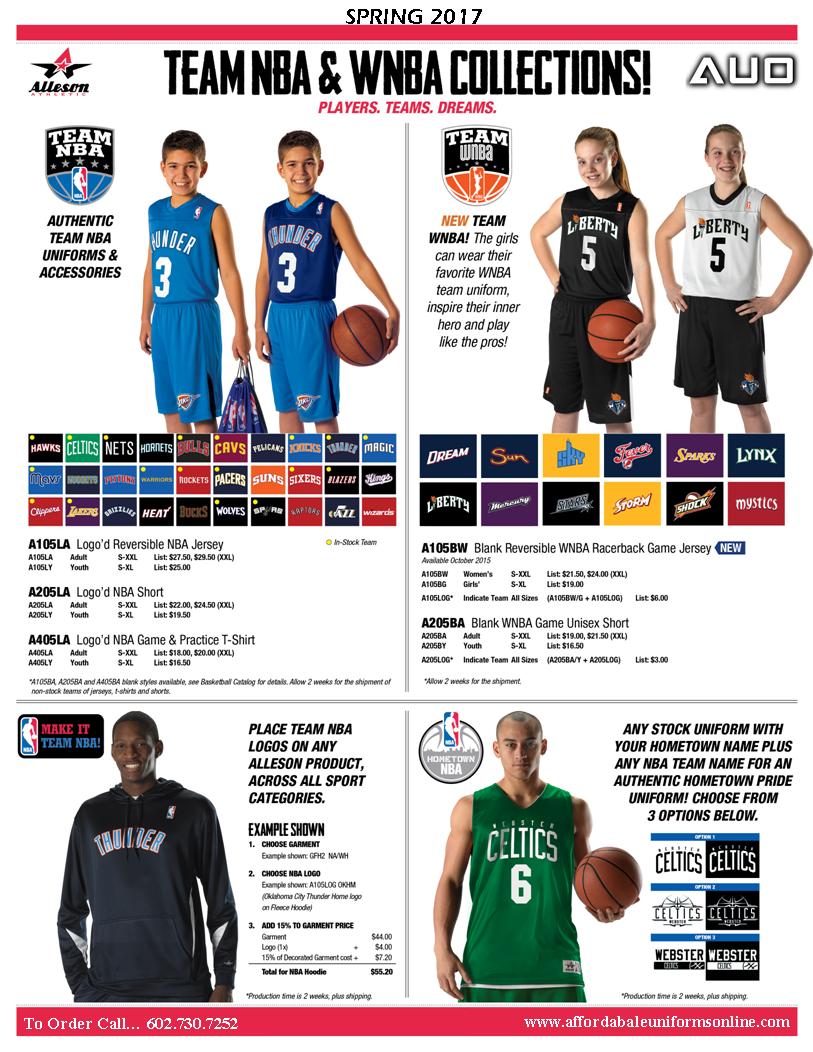 Alleson Basketball Uniforms