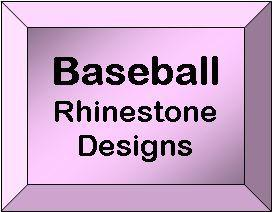 Rhineston desgin templates - Baseball