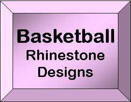 Rhineston Design Templates - Basketball