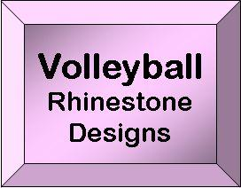 Rhinestone Designs - Volleyball