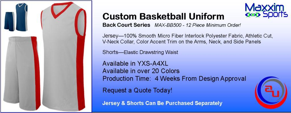 MAXXIM BACK COURT CUSTOM BASKETBALL UNIFORM