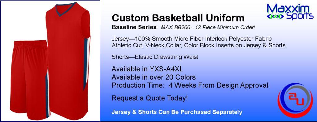 MAXXIM BASELINE CUSTOM BASKETBALL UNIFORM