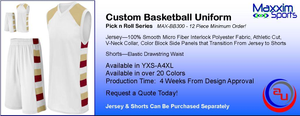 MAXXIM PICK N ROLL CUSTOM BASKETBALL UNIFORM
