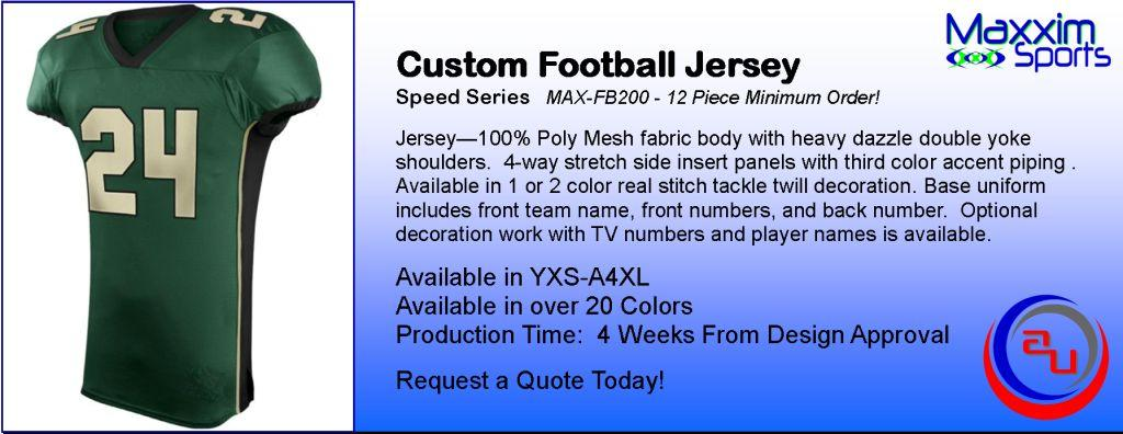 MAXXIM SPORT SPEED CUSTOM FOOTBALL JERSEY