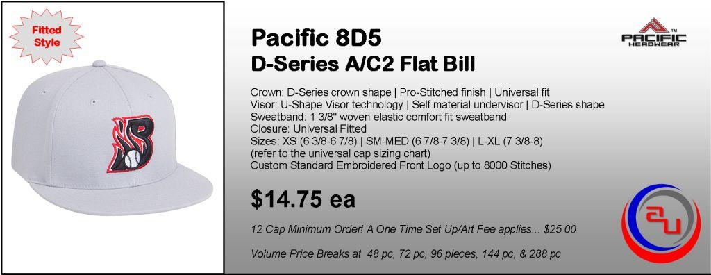 Pacific Headwear 8D5 D-Series A/C2 Flat Bill by Afforable Uniforms Online