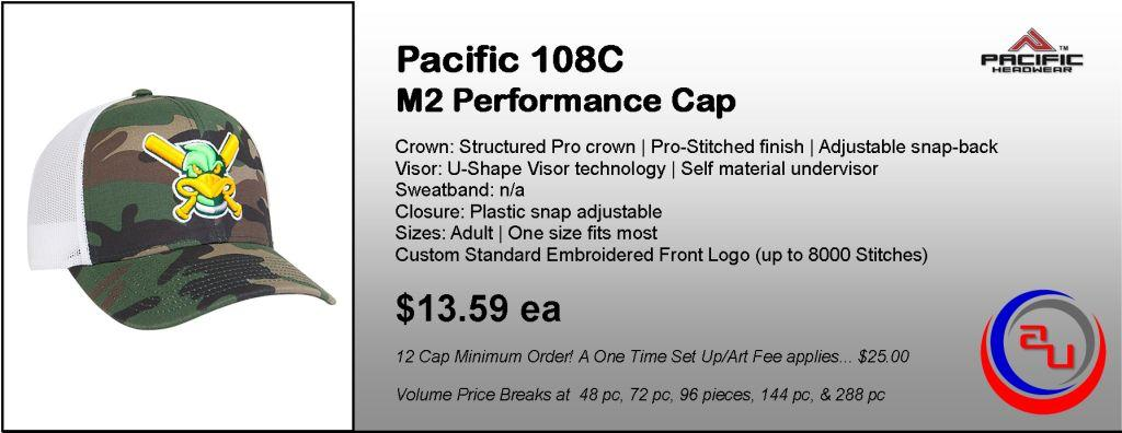 Pacific Headwear 108C M2 Performance Cap by Affordable Uniforms Online