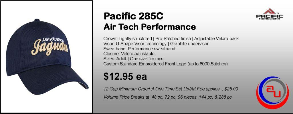 Pacific Headwear 285C Air Tech Performance Cap by  Affordable Uniforms Online