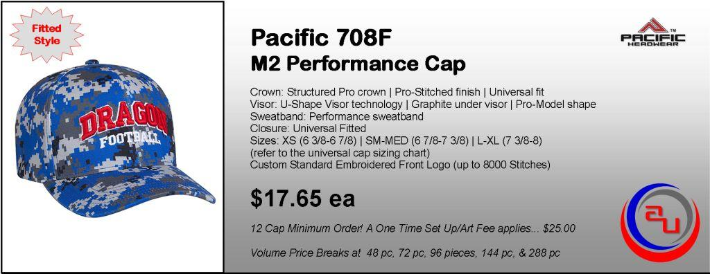 Pacific Headwear M2 Digital Camo Performance Cap by Affordable Uniforms Online