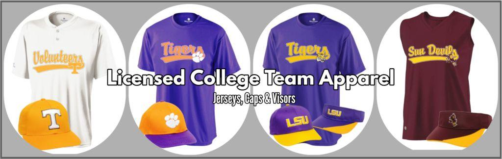 COLLEGE REPLICA JERSEYS AND CAPS