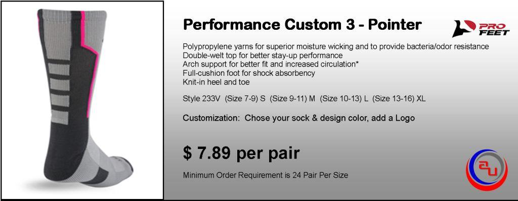 PROFEET CUSTOM PERFORMANCE 3-POINTER SOCKS
