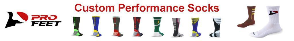 PRO FEET CUSTOM PERFORMANCE SOCKS BY AFFORDABLE UNIFORMS ONLINE