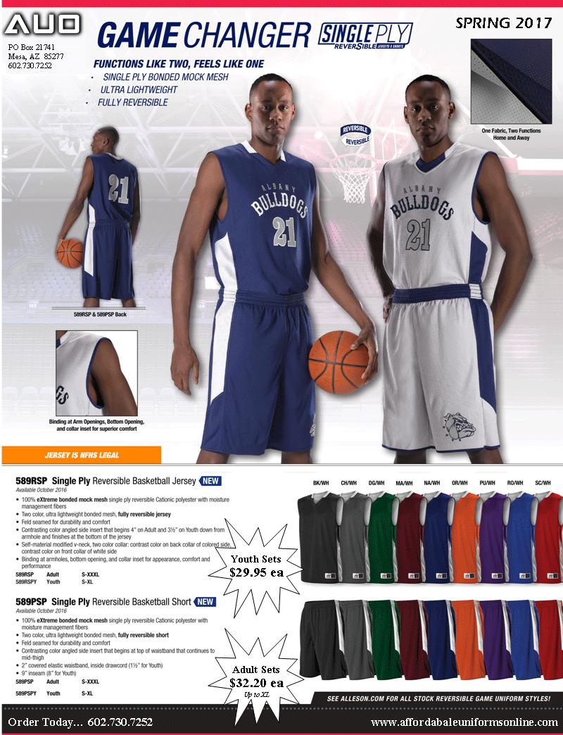 Reversible Basketball Uniforms