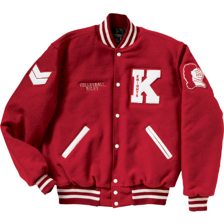 Affordable Uniforms Online-Letterman Jacket