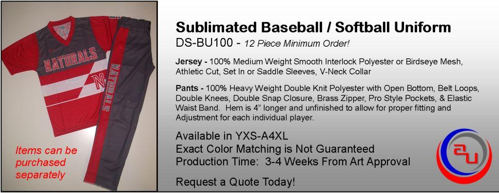 Sublimated Baseball Uniforms, Jersey, Pants, Affordable Uniforms Online