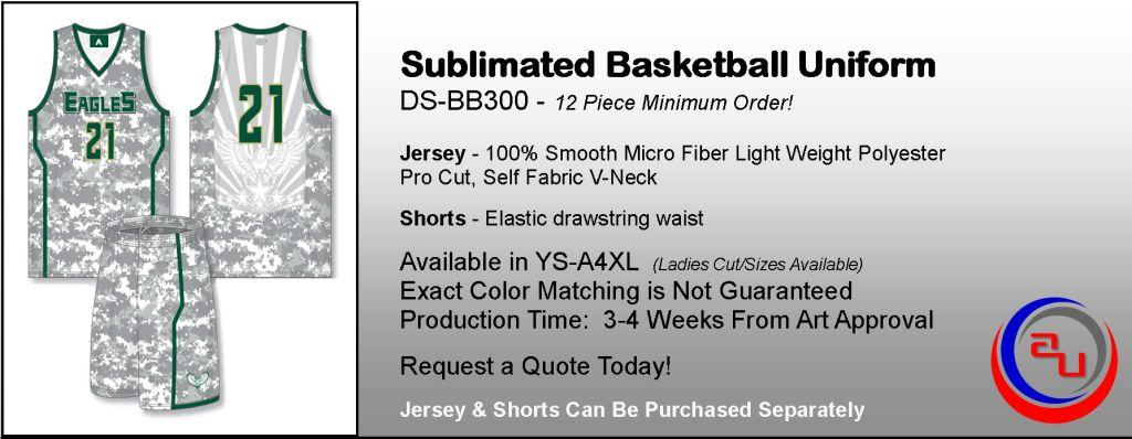 DYE SUBLIMATED CAMO BASKETBALL UNIFORMS, AFFORDABLE UNIFORMS ONLINE