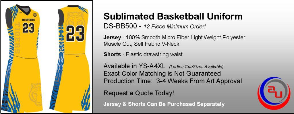 AUO SUBLIMATED MUSCLE CUT BASKETBALL UNIFORM