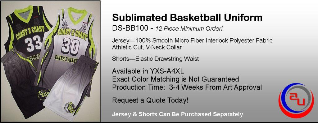 Affordable Uniforms Online Custom Sublimated Basketball Uniform