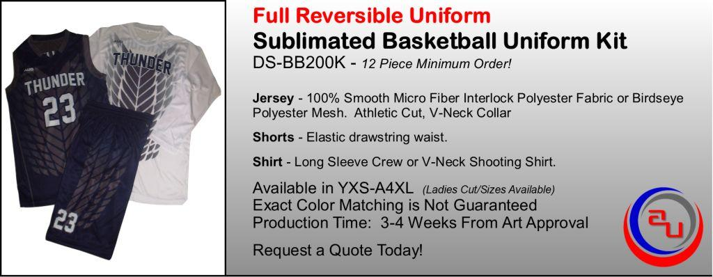 MAXXIM SPORTS REVERSIBLE SUBLIMATED BASKETBALL UNIFORM