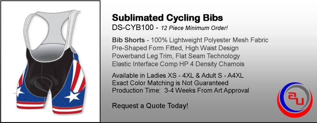 SUBIMATED CYCLING BIBS