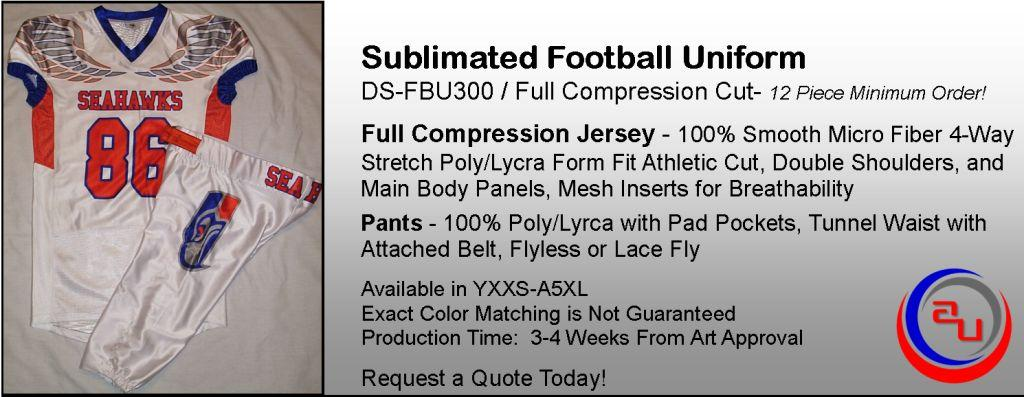 AUO COMPRESSION FIT SUBLIMATED FOOTBALL UNIFORM
