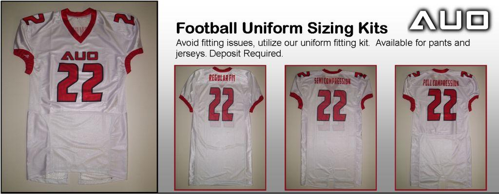 AUO FOOTBALLUNIFORM SIZING KIT