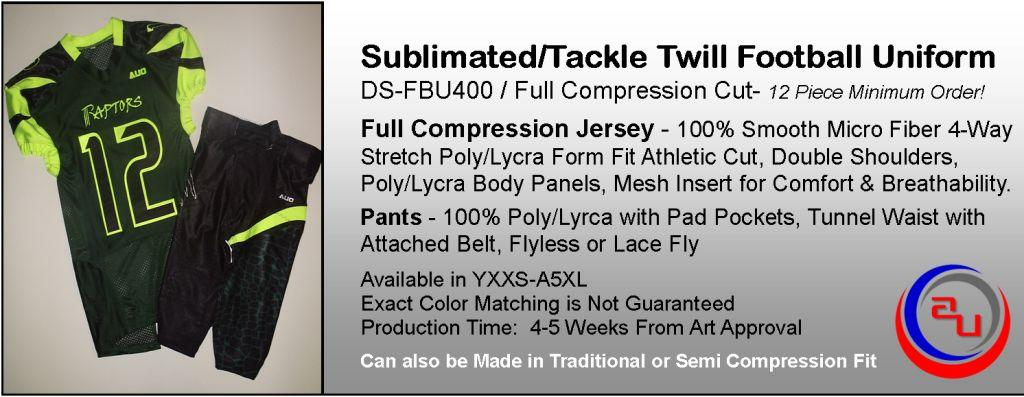 AUO CUSTOM TACKLE TWILL / SUBLLIMATED FOOTBALL UNIFORM