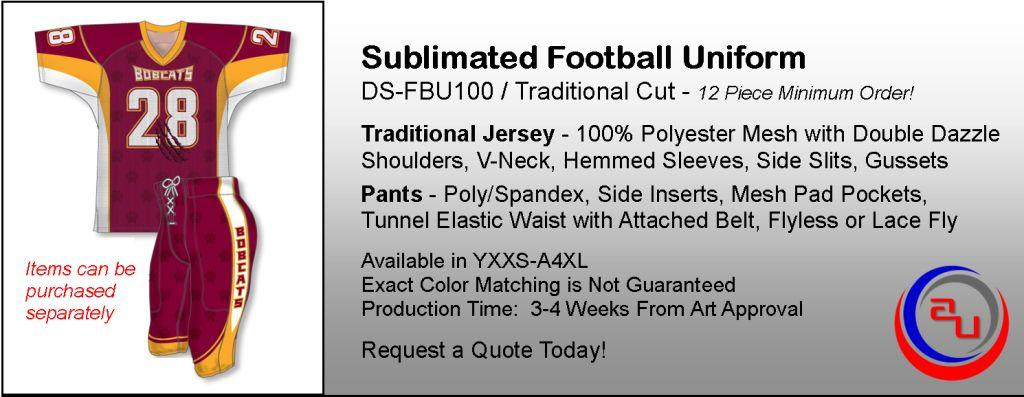 AUO TRADITIONAL MESH SUBLIMATED FOOTBALL UNIFORM