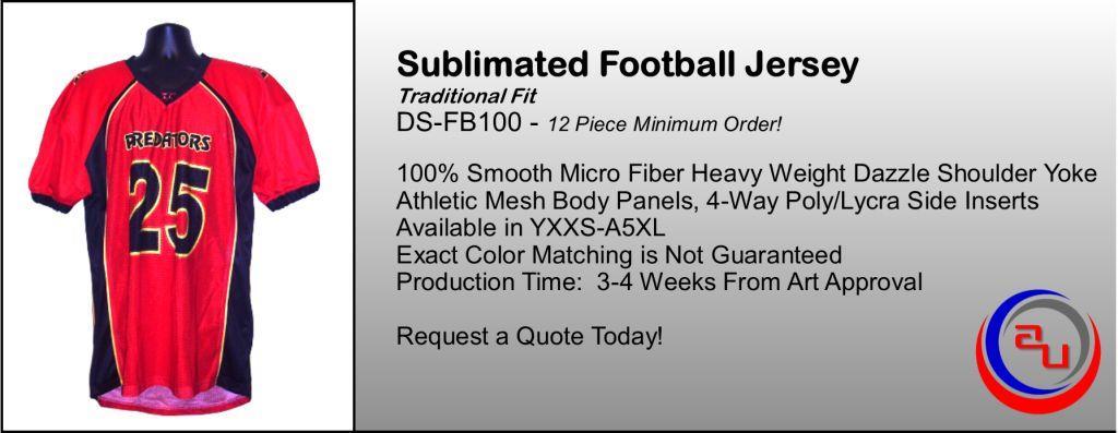 CUSTOM MESH FOOTBALL JERSEY