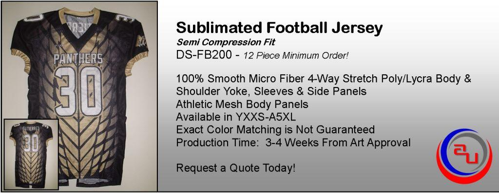 SEMI COMPRESSION SUBLIMATED FOOTBALL JERSEY BY AUO