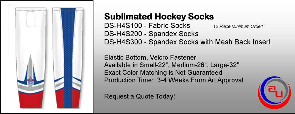 Sublimated Hockey Socks