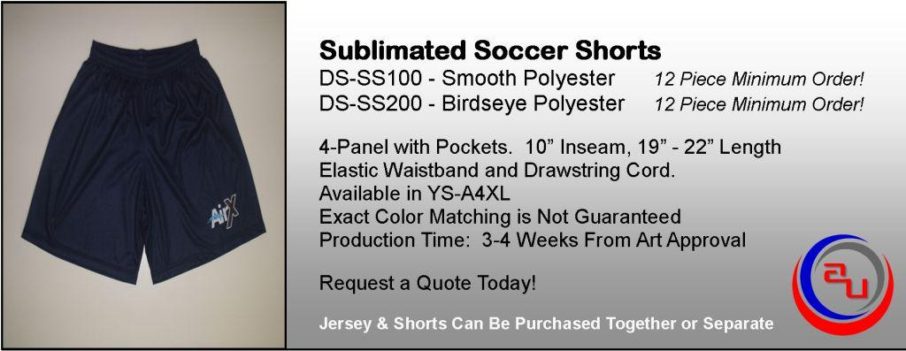 SUBLIMATED SOCCER SHORTS, AFFORDABLE UNIFORMS ONLINE