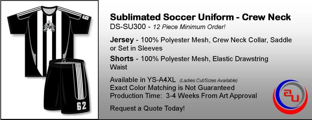 SUBLIMATED CREW NECK SOCCER UNIFORM, AFFORDABLE UNIFORMS ONLINE