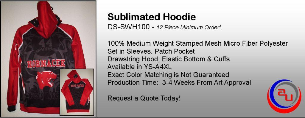AUO SUBLIAMTED SOFTBALL HOODIES