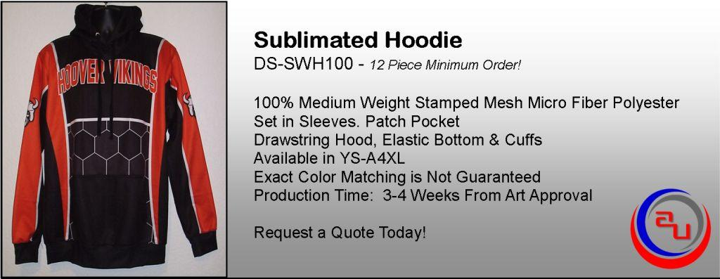 AUO SUBLIAMTED SOCCER HOODIE