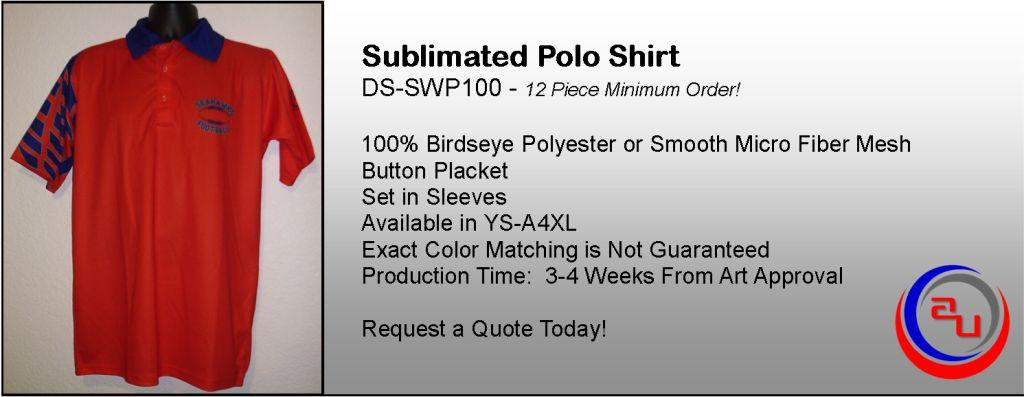FULL DYE SUBLIMATED COACH AND FAN POLO SHIRT