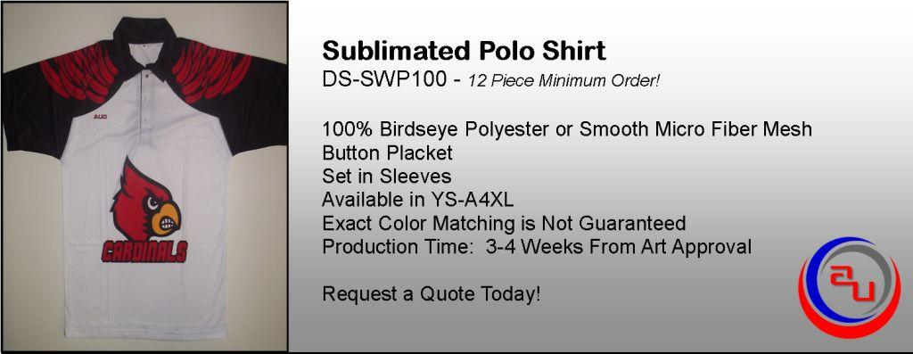 SUBLIMATED COACHES POLO SHIRT