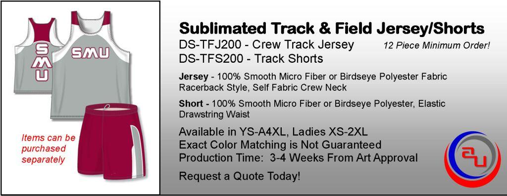 SUBLIMATED RACERBACK TRACK AND FIELD UNIFORM