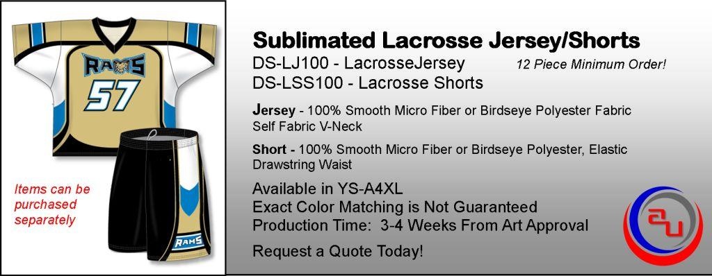 SUBLIMATED LACROSSE UNIFORMS. SUBLIAMTED LACROSSE JERESEY