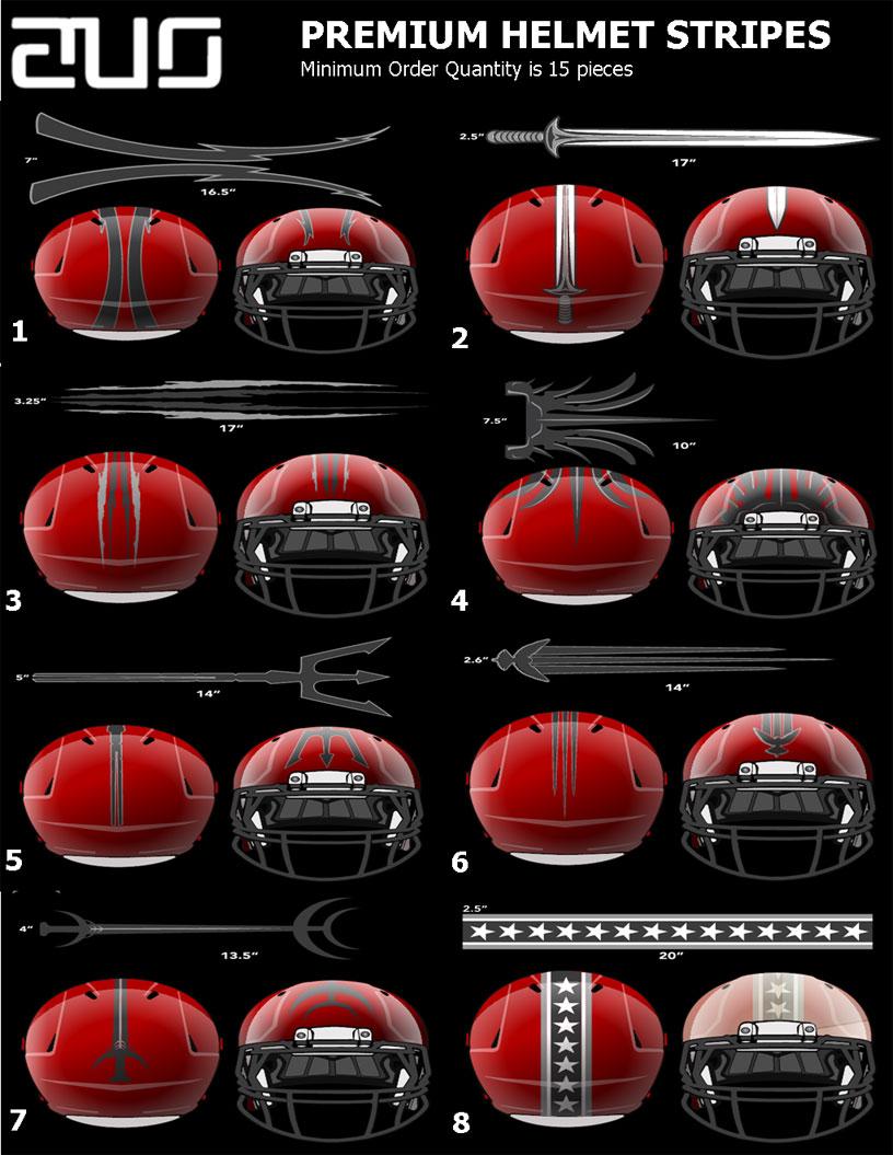 premium helmets stripes