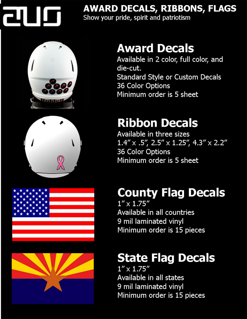 DECALS-RIBBONS, FLAGS