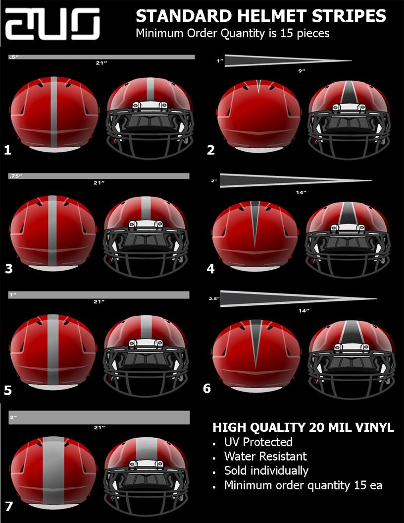 standard helmets strips
