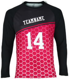 SPECTRUM COLOR GEAR LADIES SUBLIMATED LONG SLEEVE RAGLAN SHIRT