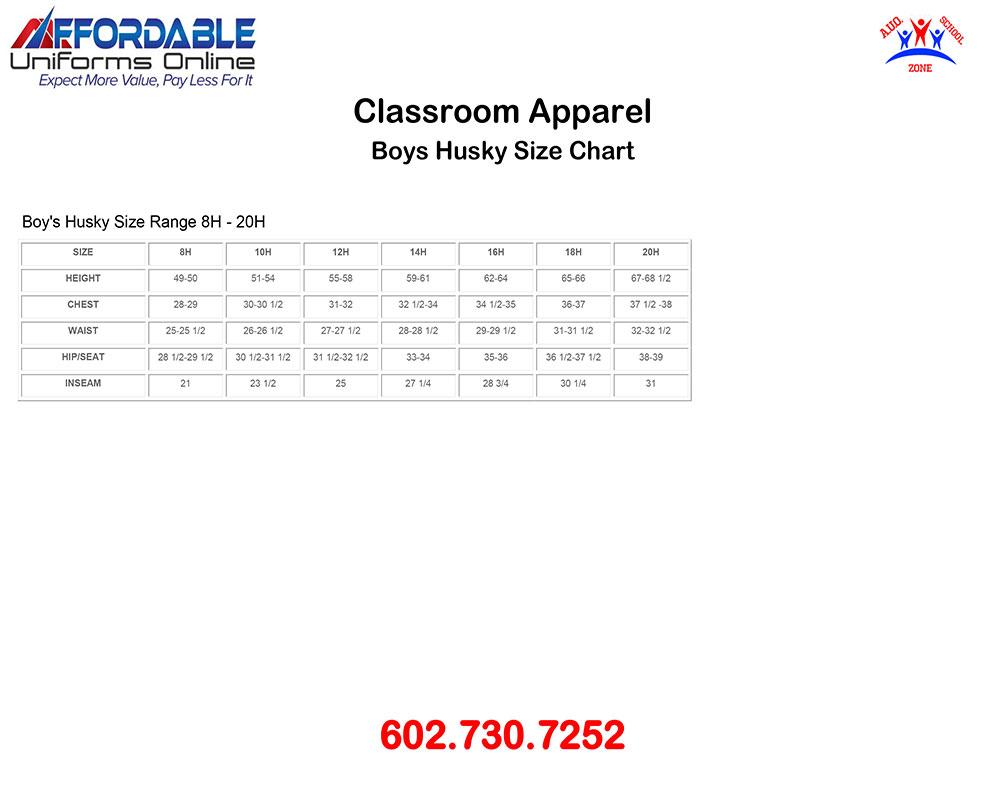 CLASSROOM APPAREL SCHOOL UNIFORM-SIZE-CHART-4