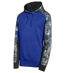 SPORT-TEK® SPORT-WICK® MINERAL FREEZE FLEECE COLORBLOCK HOODED PULLOVER - ST231